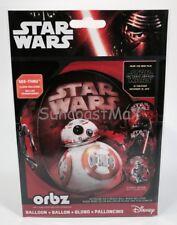 """ORBZ STAR WARS Disney See-Thru BALLOON Transparent 4 Side Design Round 15""""x16"""""""