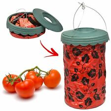 Hanging Upside Down Tomato Planter Garden Patio Grow Your Own Veg Bag Pouch