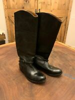 Frye Womens Size 6 Black Melissa Seam Ankle Buckle Detail Pull On Tall Boots