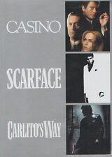 CASINO + SCARFACE + CARLITO'S WAY – 3 DVD SET, AL PACINO, ROBERT DE NIRO,