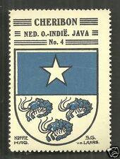 Cheribon Cirebon Coat of Arms Java Indonesia ca 1925