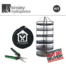 Plant Trimming Kit - Lighthouse Drying Net - Black Orchid Springloaded Trimmers