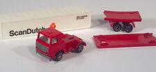"Vintage Playart ScanDutch Semi Truck 5.5"" Die Cast Scale Model Red"