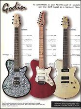 Godin Radiator SD LG SP90 series guitars 2000 ad 8 x 11 advertisement print