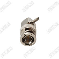 Rf 75ohm Bnc connector male Plug Right Angle Crimp Rg179 Rg316 cable