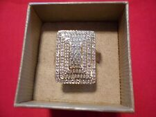 2.00 Round Pave Set Diamond Ring in 18K Yellow Gold Over 925 Sterling-Size 6