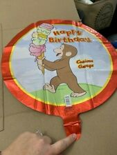 """Curious George Happy Birthday 18"""" Foil Balloon New!!!"""