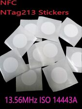 15 PCS/LOT NFC Tags Etiquette 25 mm Ntag 213 Blank Autocollant Android Windows Mobile UK