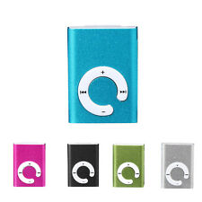 5 Farbe Mini Clip Metal USB 2.0 MP3 Player Support Micro SD TF Card Music Media