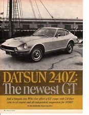 1970 DATSUN 240Z ~ ORIGINAL 5-PAGE NEW CAR PREVIEW ARTICLE / AD