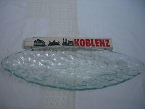 """Glasschale / Dessertschale - """"Schiffchen""""- grün - Mitte 20.Jahrhundert - p313"""