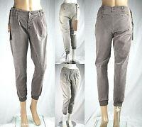 Pantaloni Donna MET 7/8 C267 Grigio Marrone Tg 25 30 conformata veste grande