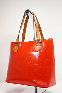 Auth Pre-owned Louis Vuitton Vernis Red Houston Shoulder Tote Bag  M91092 210242