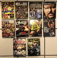 WWE Wrestlemania Raw Attitude Era Mix DVD (10) The Rock Stone Cold And Many More