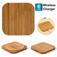 Qi Wireless Charger Wood Pad Charging Mat For Samsung Galaxy Note 9 iphone
