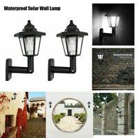 2 Packs Solar LED Fence Gate Lamp Waterproof Post Light Outdoor Home Garden Lamp