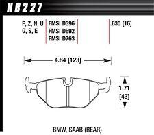 Hawk HP+ Rear Brake Pads For 87-09 BMW / Saab #HB227N.630