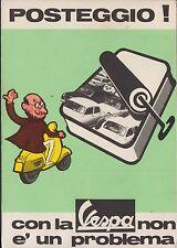 Pubblicitaria - Vespa, non è un problema il posteggio, viaggiata.