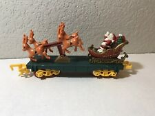 "Train Car Toy State Santa Reindeer ""North Pole Express Christmas Magic"" O Scale"