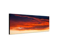 120x40cm blutrot Sonnenuntergang Panorama Abend Natur Leinwand Bild Sinus Art