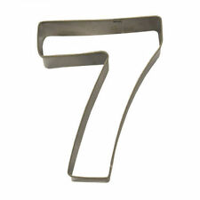 Number 7 Cookie Cutter - Eddingtons Stainless Steel Pastry Cutters Numbers 0 1