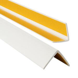PVC Winkelprofil 35x35mm Selbstklebend elastischer Kantenschutzprofil 70-200cm