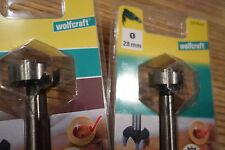 2 x Wolfcraft Forstner Bohrer  30 +28 mm   OVP Neu
