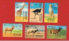 Niger #447-452  VF used  Endangered Species  Free S/H