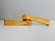 """Carré 7mm Ancienne Paire de Poignée en Bronze Doré """"BRICARD"""" Porte, Louis XVI"""
