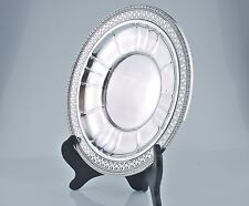 """WATSON Sterling Silver Reticulated 9 """"  Sandwich Plate A 414"""