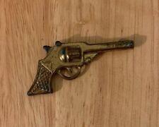 Vintage Miniature Toy COLT 45 Revolver Pistol Western Gold Tone