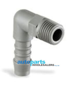 PACK OF 10 NORMA THREADED ELBOW PUSH-ON PLASTIC HOSE CONNECTORS