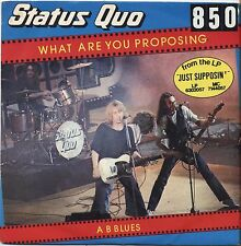"STATUS QUO - What are you proposing - VINYL 7"" 45 LP ITALY 1980 VG+ COVER VG-"