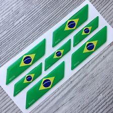 Brazil Brazilian flag 3d domed emblem decal sticker car BMW VW Mercedes Audi