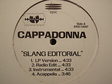 "CAPPADONNA - SLANG EDITORIAL / PILLAGE / 97 MENTALITY (12"")  1998!!  RARE!!  RZA"