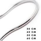 Chaîne de Collier Maille Serpent en Argent Massif Sterling 925 30 40 50 60 70 cm