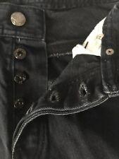 Parish Nation 36 Button Fly Rivet Black Men W35 L31 Jeans Snap Logo Denim Pocket