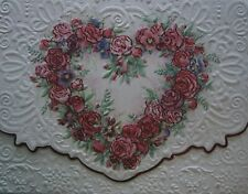 Carol Wilson Arts Stationery 10 Note Cards Envelopes Blank Red Rose Heart