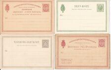 DENMARK- 8 older postal cards-all different & all mint