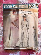 VOGUE COUTURIER DESIGN JOHN CAVANAGH 1347 sewing pattern vintage 1960s