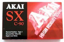 AKAI SX C-90 NORMAL POSITION TYPE I BLANK AUDIO CASSETTE TAPE