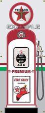 TEXACO PREMIUM ANTIQUE RETRO GAS PUMP GAS STATION  BANNER GARAGE SIGN ART 2 X 5