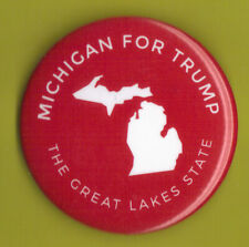 """2016 Donald Trump 2.25"""" / """"Michigan - Red"""" Official Presidential Campaign Button"""