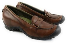 Merrell Plaza Glide Womens Size 6 Loafers Shoes Slip On Brown Leather J46438