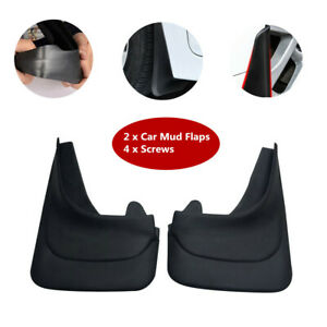 2xBlack Truck Car Mud Flaps Mudgurads Fender Dust Guards Protect Cover Plate Set
