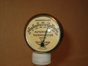SUPER MINT-ORIGINAL 1940's SUN VISOR AUTOMOBILE THERMOMETER, FORD,GM,CHRY, ACC'Y