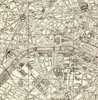 1926 Antique PARIS City Map Street Map of Paris France Gallery Wall Art 8013