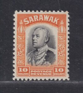 Sarawak SG 125 Scott 134 XF MNH/UMM 1934 $10 Charles Vyner Brooke SCV $35+