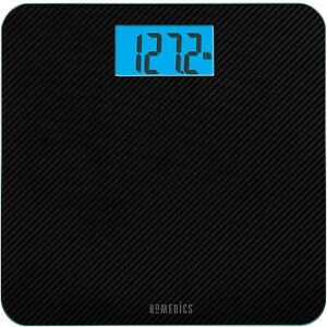HoMedics® Carbon Fiber Glass Bathroom Scale 13x12 Black