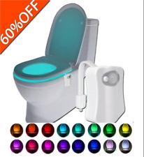 LED Night Lamp Sensor 8 Colour Toilet Lights Motion Sensor New Lightbowl Commode